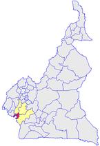 Le Wouri (en rouge) et les autres départements du Littoral (en jaune)