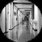 Etablissements d'hébergement et de soins : hôpital, clinique, ehpad, SSR, ...