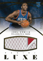 JOEL EMBIID / Luxe Rookie Patch - No. 32  (#d 15/25)