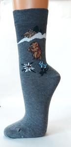 Socken mit Murmeltier Motiv