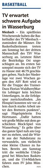 Artikel im Miesbacher Merkur am 24.11.2018 - Zum Vergrößern klicken