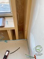 Holzhaus Rohbausituation Sitzfenster vor dem Umbau, Entstehung Sitzfenster mit Stauraum, Schubladen u. Bücherregal von Schreinerei Holzdesign Ralf Rapp in Geisingen