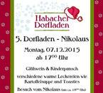 Einladung zum Nikolaustreff im Habacher Dorfladen am 7. 12.
