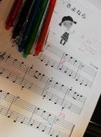 どれみ音楽教室 ピアノレッスン フリクションボールペン