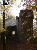Der Mühlturm Burg Rodenstein