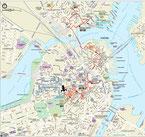 Stadtplan von Boston
