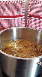entschlacken, Sauerkrautsuppe zum entschlacken, entgiften, Trinkkur, Suppenrezept