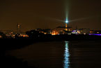 Leuchtturm Licht Warnemünde Nacht