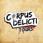 Logo der interaktiven Krimi Tour- Corpus Delicti Tours - in Hamburg.