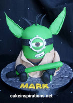 Star Wars Yoda Minion birthday cake
