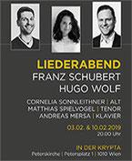 Liederabend Schubert-Wolf  in der KRYPTA