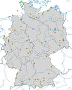 Beobachtungen des Rotkopfwürger (Lanius senator) zwischen 2013-20 in Deutschland.