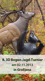 8. 3D Bogen-Jagd-Turnier am 02.11.2013 in Grossjehna