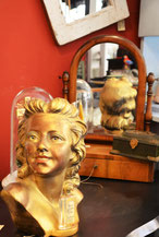 Tischspiegel, Psyche, Jugendstil, Holglas, der nostalgische Laden