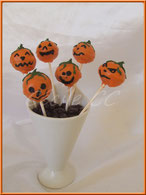 cake pops, citrouille, halloween, orange, cake design