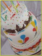 tutoriel pour faire une pièce montée anniversaire, wedding cake anniversaire, ballon, cake design, pâte à sucre, gâteau tutoriel