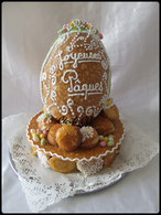 oeuf de pâques en nougatine, chic choc cake boutique en ligne cake design et patisserie