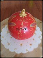 Tutoriel pour réaliser un gâteau 3D en forme de boule de Noël, chic choc cake, cécile cc, boutique en ligne, pâte à sucre, cake design, pâtisserie
