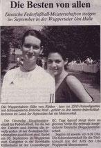 Wuppertaler Rundschau Bericht vom 11.06.2003