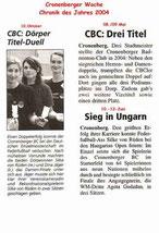 Cronenberger Woche Chronik vom 31.12.2004
