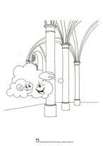 Malvorlage Abenteuer auf Burg Donnersbach, Gespenster,, Antje Hansen Psst Hörmal Verlag