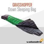 Valandre Grasshopper-Daunenschlafsack als Decke