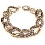 Bracciale oro bianco 18kt con maglie lucide e ritorte - br94221bdf