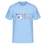 """The M"", light blue"