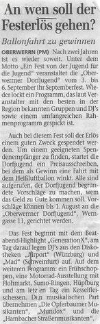 26.06.2004 Schweinfurter Tagblatt