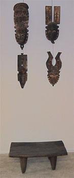 Masques de réjouissance de l'ethnie Gouro - Art ancien d'Afrique noire - Espace Philippe Artidor