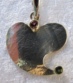 Silber-Anhänger in Herzform