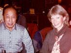 Julie Paï avec Maître Wang en 1983