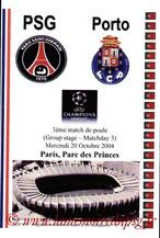 Programme pirate  PSG-FC Porto  2004-05