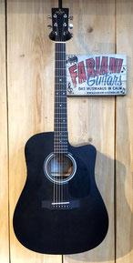 Sigma DMCE BKB+, Westerngitarre schwarz matt, Dreadnought Modell, Tonabnehmer, Musik Fabiani Guitars Calw, Pforzheim, Weil der Stadt, Leonberg