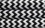 Textilkabel Schwarz-Weiß