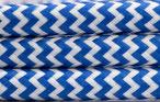 Textilkabel blau weiß