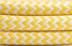 Textilkabel gelb weiss