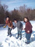 雪といえば、スキーでしょう