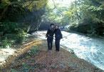 翌朝は滑川渓谷を散策