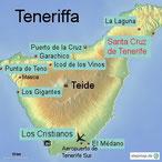 Bild: Karte von Teneriffa