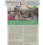 Presseartikel Gemeinsam helfen Generationenhilfe Abbensen Jung und Alt Peine Abbensen