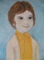 Moi plus jeune. Le modèle et l'execution du portrait sont de mon père. Difficile de ne pas mentionner aussi mes deux professeurs, Claude Chardin pendant près de dix ans dans ma jeunesse, et Catherine Bosch depuis dix ans (plus tout à fait la jeunesse, pour le coup, mais tout aussi bien).