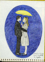 ②21/3仏映画シェルブールの雨傘:ウェストサイドストーリーの対極を感じる 映画にない場面でポスター用