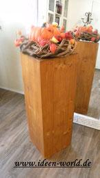 Holz Deko Säule
