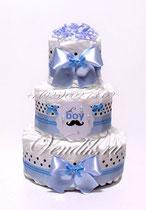 """Торт из памперсов - подарок на рождение мальчика """"Маленький джентельмен"""""""