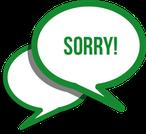 Grafik Corona Sorry - Wir bitten um Verständnis