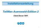Titelbild Installationshandbuch Client-Server TAPI für ETS-2116 I