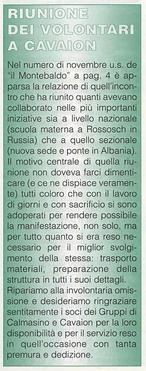 """""""Il Montebaldo"""" n. 1 - 1996"""