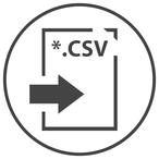 Datenexport - Export der Berechnungsergebnisse und -Parameter als CSV-Datei.