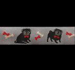 Band 71, Mops Hund grau by Ribbon Adorable Pug Jessica Jones